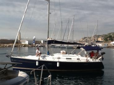 Oceanis 343 Clipper - Arrivéeau port