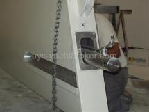 Détail quille et vérin hydraulique