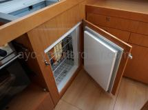 Ouverture frontale du réfrigérateur