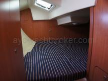 Couchage double de la cabine arrière