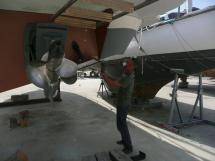 Embase tribord et hélice Duo Prop