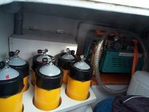 Compresseur et bouteilles de plongée