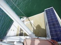 Jupe arrière et panneaux solaires