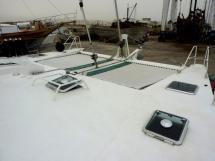 Pont avant et trampolines