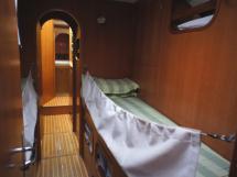 Couchettes simples cabine centrale tribord