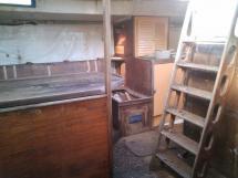 Descente carré avec cuisine tribord (à ce jour)