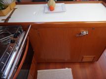 Oceanis 50 - Plan de travail de la cuisine