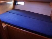 Cigale 16 - Couchette double de la cabine latéral bâbord