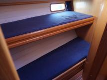 Cigale 16 - Couchettes superposés de la cabine latérale tribord