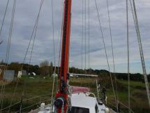 GARCIA 48 - Mât laqué rouge