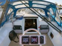 Patago 40 - Cockpit depuis le poste de barre