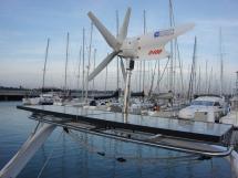 Alliage 45 - Portique/Eolienne et panneaux solaires