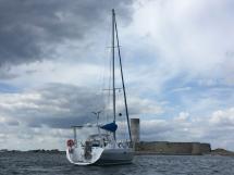 Atlantis 370 - Au mouillage