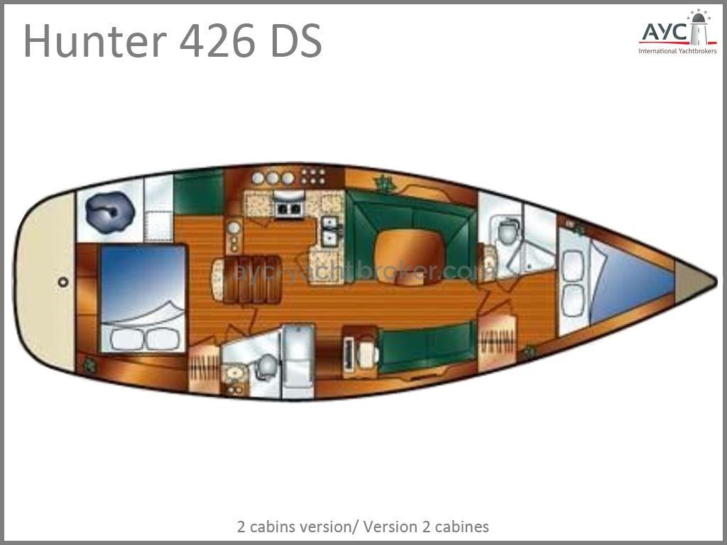 Hunter 426 DS - Plan d'aménagement