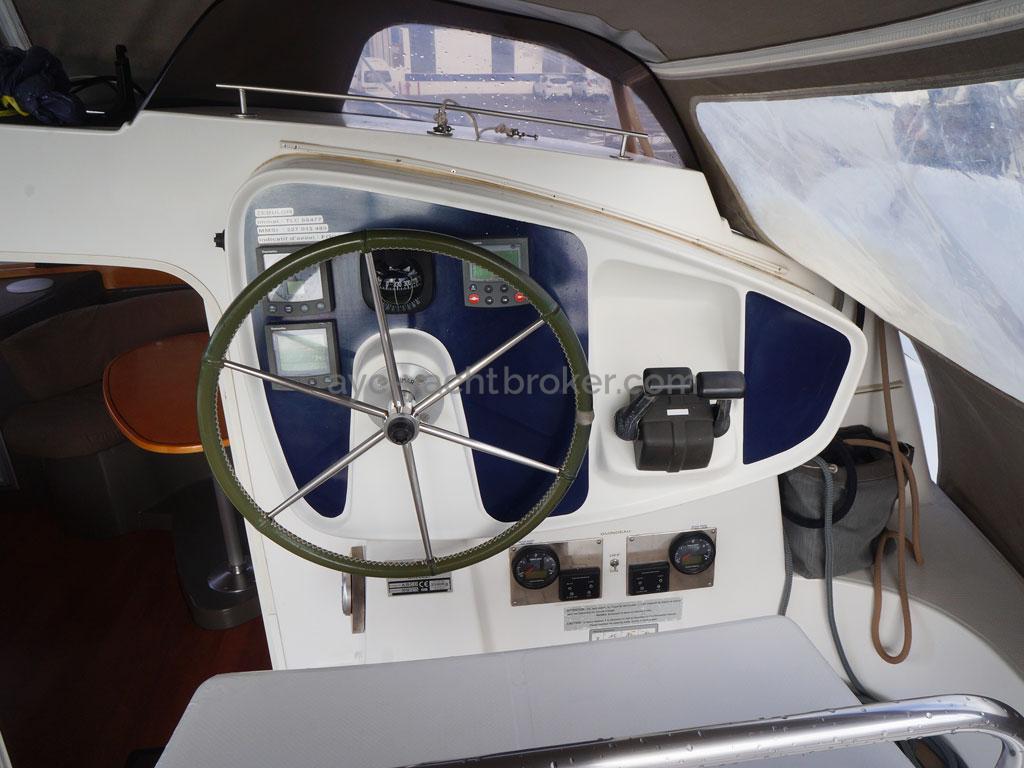 AYC - Lavezzi 40 / Poste de barre du cockpit