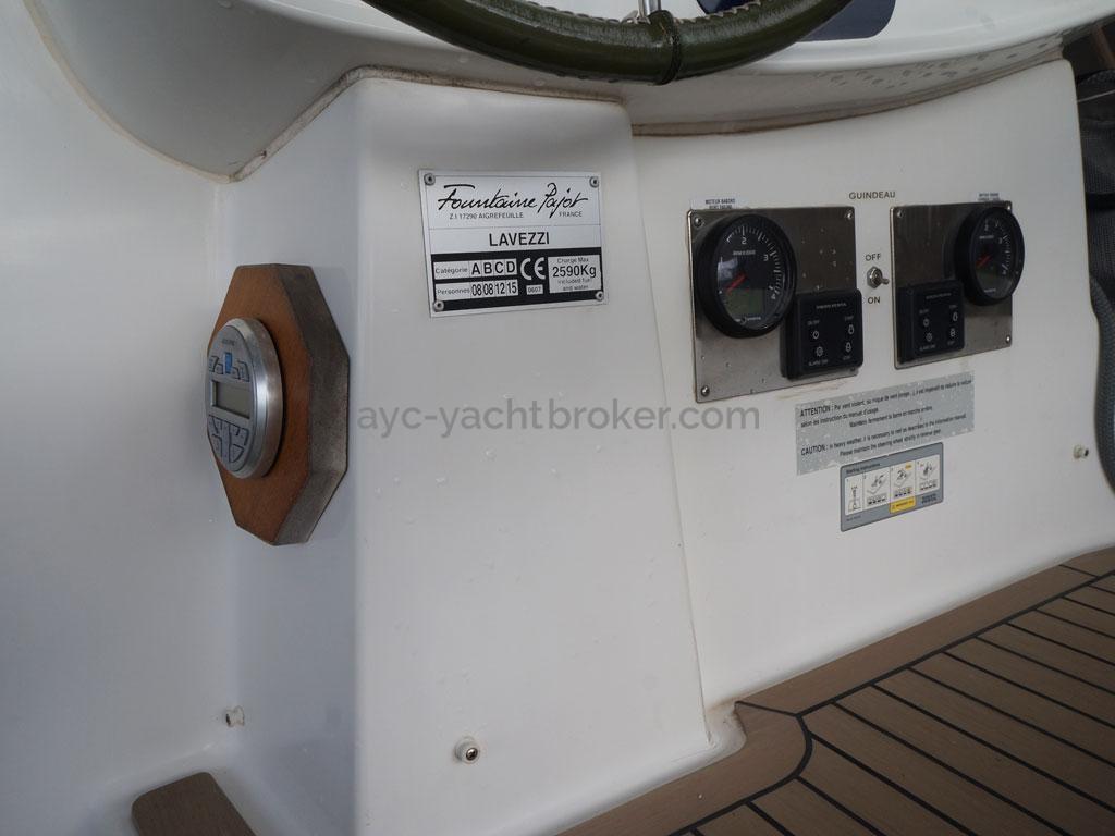 AYC - Lavezzi 40 / Poste de barre cockpit