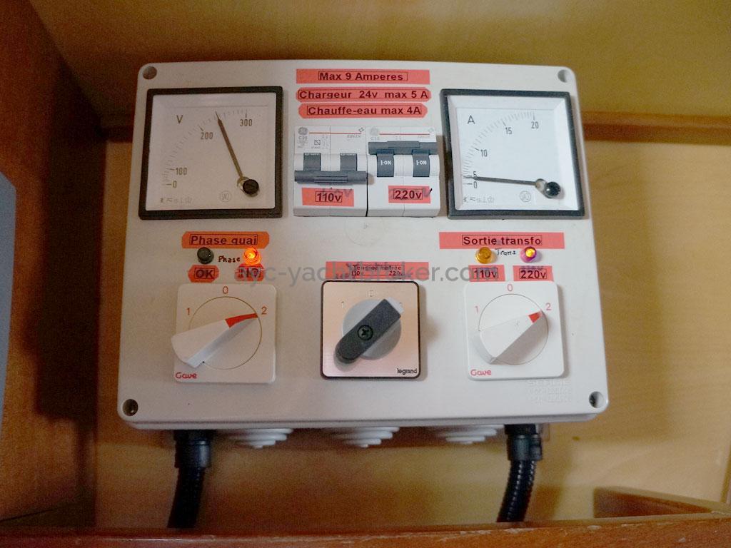 Alliage 44 - Gestion électrique 230V quai/groupe