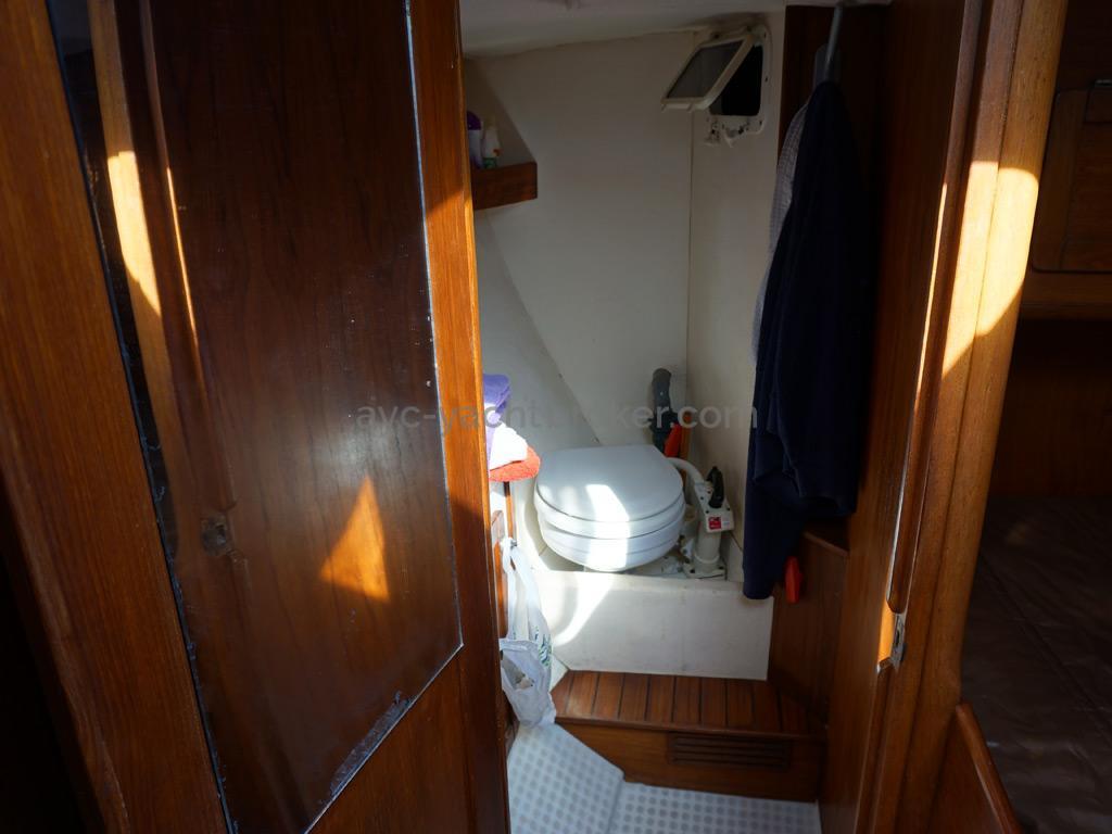 Plan Mauric 14m - Toilettes de la cabine avant