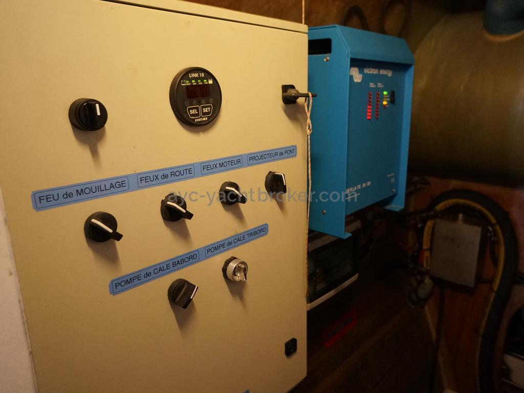 Catamaran 51' - Tableau électrique & chargeur