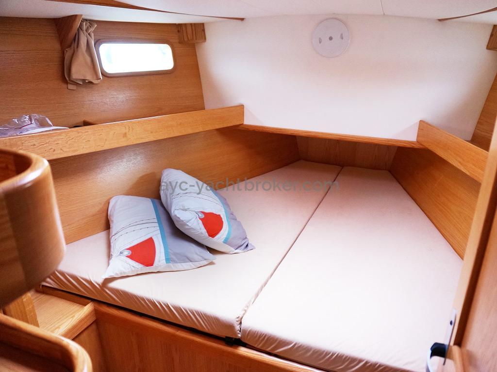 OVNI 395 - Couchette double de la cabine avant
