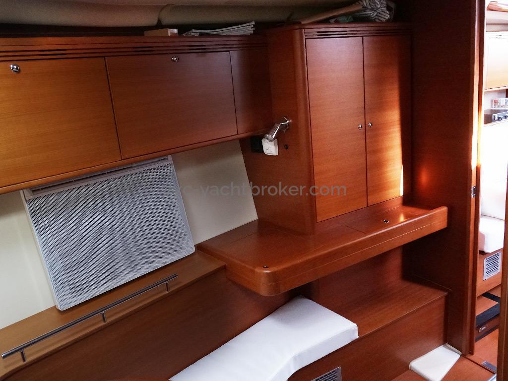 Dufour 485 Grand Large - Détaim d'aménagement de la cabine avant