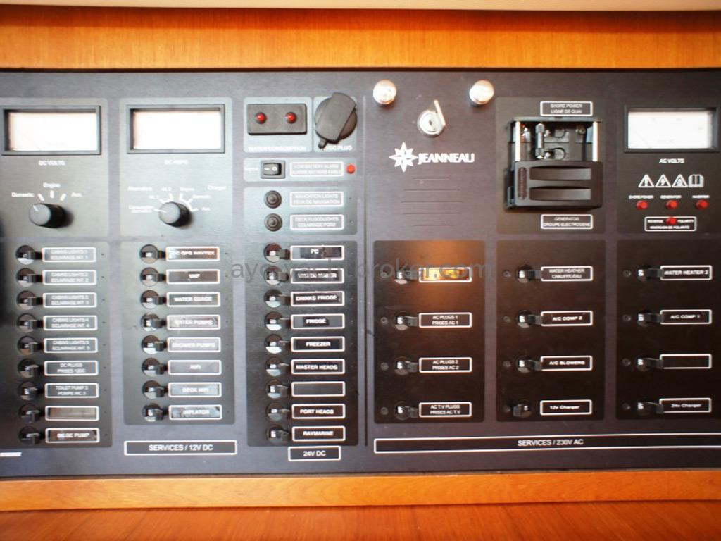 Sun Odyssey 54 DS - Panneau électrique