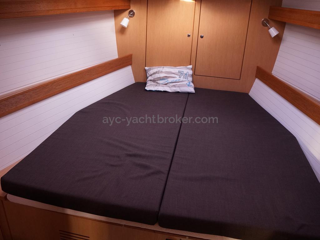 Bavaria 45 Cruiser - Couchage de la cabine avant