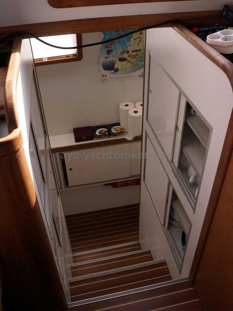 Cat Flotteur 45 - Descente bâbord