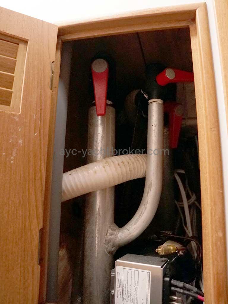 Cat Flotteur 45 - Prises d'eau sur tubes soudés