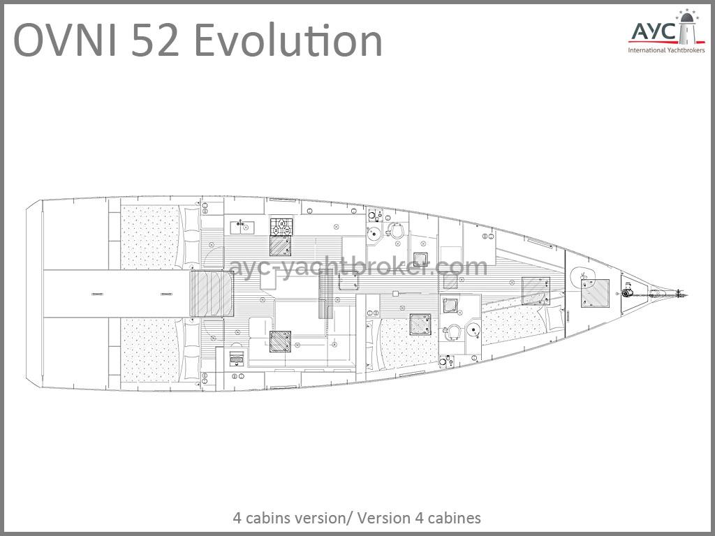 OVNI 52 Evolution - Plan d'aménagement