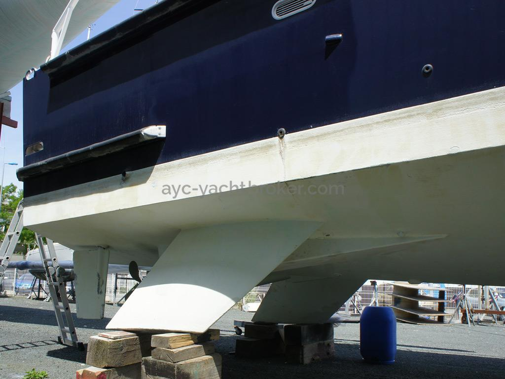 AYC Yachtbrokers - Trawler Meta King Atlantique - Quillons de protection hélice
