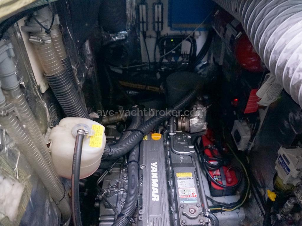 Moody 62 DS - Cale moteur