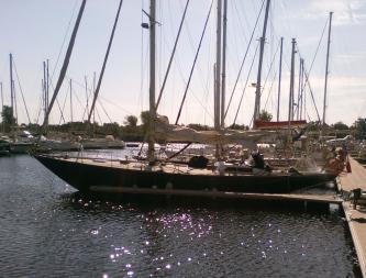 AYC - remise à l'eau de l'Islander 55